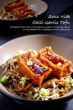 Sous Vide Chili-Garlic Tofu Full Recipe on FoodForNet.com