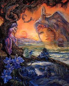 The Day Is Gone by Josephine Wall