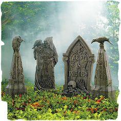 Faux Stone Halloween Tombstones~ Grandinroad