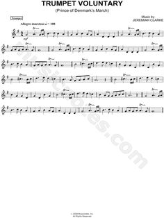 Trumpet Voluntary sheet music composed by Jeremiah Clarke