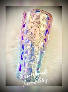 Diy Tumblers, Custom Tumblers, Glitter Tumblers, Custom Yeti, Custom Mugs, Mermaid Glitter, Cute Cups, Glitter Cups, Tumbler Designs