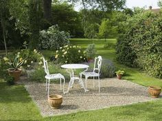 Private seating area and view of garden