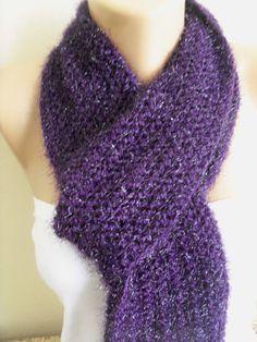 women's stylish purple  wonderful  scarf by colourfulrose on Etsy, $19.90