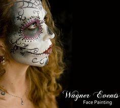 sugar skull costume   sugar skull face paint   Flickr - Photo Sharing!