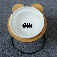 New High-end Pet Dog Bowl Bamboo Shelf Ceramic Food Jar, Food Bowl, Bamboo Shelf, Easy Eat, Pet Feeder, Bowl Designs, Dog Feeding, Pet Bowls, Ceramic Bowls