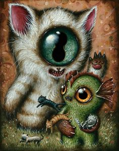 """""""Jason Limon is an artist living and working in San Antonio, Texas. With his work Jason introduces us to worlds filled with fantastic beasts and critters, or – to be more precise – mythological creatures and paranormal cryptids."""" (Jantine Zandbergen, beautiful.bizarre)"""