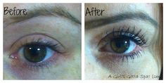 Before and after with Pur Minerals Big Blink Mascara
