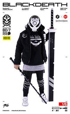 GLITCH × Machine56【黑死】BONEHEAD: Black Death 1/6 比例人偶作品   玩具人Toy People News
