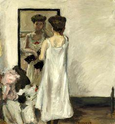 bofransson: Pierre Bonnard (1867-1947) A demi déshabillée, devant la glace