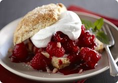 Driscoll's Nutmeg Shortcakes with Gingered Raspberries www.driscolls.com