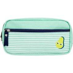 PENCIL CASE AVOCADO CUTE (27 NZD) ❤ liked on Polyvore featuring home, home decor, office accessories and pocket pencil case
