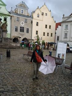 la plaza divina... llovía mucho..fue el año que Praga se inundó (2013 )