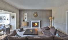 Can you already see yourself relaxing here? (106068-01) #livingroom #fireplace #cozy