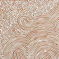 Walter Jangala Brown, Tingari Cycle, 107x76cm - Art Ark Aboriginal and…