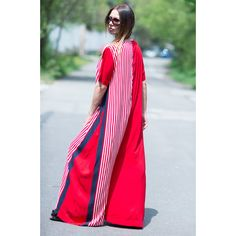 Red Women's Jumpsuit, Drop Crotch, Wide Cotton Jumpsuit, Plus size... (130 CAD) ❤ liked on Polyvore featuring jumpsuits, jump suit, drop crotch jumpsuit, blue jumpsuit, cotton jumpsuit and women's plus size jumpsuits
