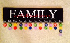 Family Celebrations board $35