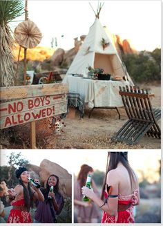Camping bachelorette party -- no boys allowed!