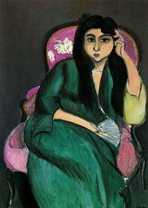 Henri Matisse - Laurette en vert Huile sur toile Collection Particulière