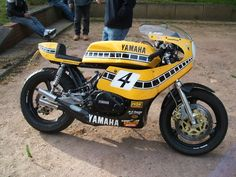Yamaha RD700 street (two RD's joined together)