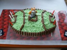 AFL Football Theme Geelong Cats Birthday cake and Party Ideas. This would be a piece of cake to make. Lol