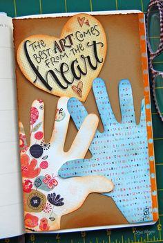 Love this heART pocket from elvie studio! Creative Journal, Creative Art, Art Journal Pages, Art Journals, Round Robin, Wreck This Journal, Art Journal Inspiration, Journal Ideas, Doodle Art