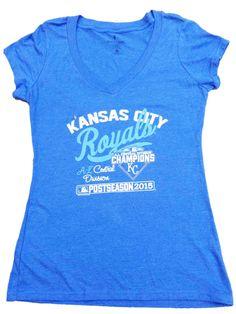 Kansas City Royals 2015 AL Central Division Champs Women Postseason T- – Sporting Up