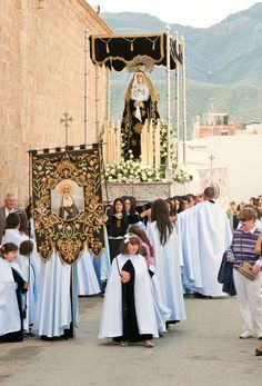 TURRE ALMERIA - SPAIN - APRIL 22: Unidentified local people carrying a float of the Virgin Mary in a procession for Holy Week on Good Friday, April 22nd, 2011 in Turre, Almeria, Spain.