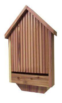 Despite our unwanted bat visitations last year, I still like the idea of hosting bats - outside!