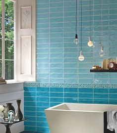 Tonalite   Kraklé. These Blue Brick Tiles Converge With A Detailed Pebbled  Strip, And · Bodenfliesen BadBad FliesenMetro ...