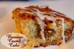 Banana Crumb Cake. So good and moist.  A good way to use up ripe bananas.  I added chopped walnuts to the topping.