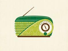 Retro Radio // Clairice Gifford // Now available to customize on ModifyInk.com