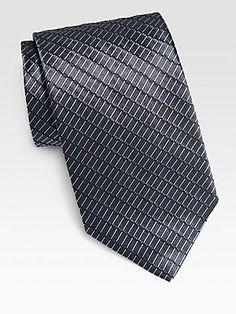 Armani ties on sale 50% off www.UrbanneShoppe.com for our favorite fashion picks at the lowest prices   Collezioni Broken Stripe Silk Tie