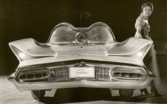 1955 Lincoln Futura, designed by Ghia, Italy (which later evolved into a Batmobile):