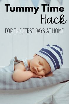 This simple and easy way to do tummy time is perfect when bringing your newborn baby girl or newborn baby boy home from the hospital. This makes tummy time easy in the first days at home with a new baby! Twin Boys, Twin Babies, Timmy Time, Baby Kicking, Third Baby, Fantastic Baby, Baby Arrival, Baby Development, Pregnant Mom