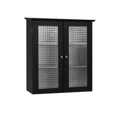 Cape Cod 22.5 In. W Wall Cabinet With Two Glass Doors In Espresso