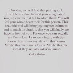 Carlos Medina quote #words #soulmate #soul