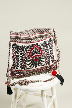 Star Mela Womens MINTA EMBROIDERED POUCH