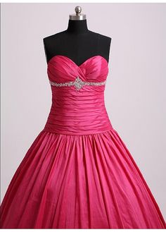Elegant Taffeta Ball Gown Strapless Sweetheart  Prom Dress