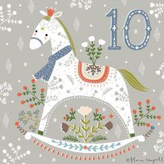 Flora Waycott Christmas Advent 2014 Day 10 - A pretty rocking horse xx