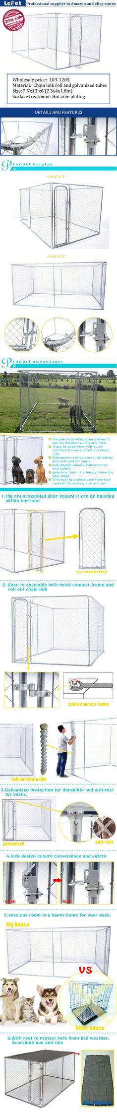 classic galvanized outdoor dog kennel/10x10x6ft dog kennel/dog kennel wholesale  cheap/discount/low price/buy discount/price/pricelist