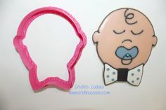 3.75 Eddie the Baby Boy COOKIE CUTTER by CristinsCookies on Etsy, $6.00