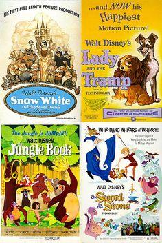 Disney Vintage Movie Posters | Disney Vintage Movie Poster Magnets Snow White by ... | Disney