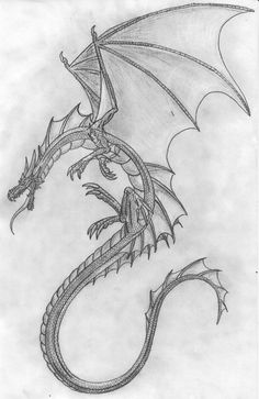 Pencil drawing dragons pencil drawings pencil dragon scatha the worm traditional art Drawing Dragon, Easy Dragon Drawings, Dragon Sketch, Chinese Dragon Drawing Easy, Cool Pencil Drawings, Pencil Art, Drawing Sketches, Dark Art Drawings, Drawing Ideas