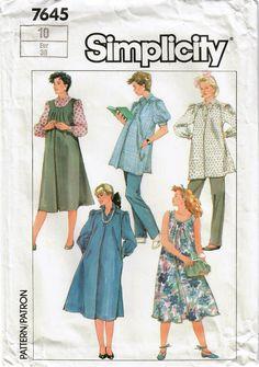 Maternity Dress Pattern, Maternity Sewing Patterns, Vintage Sewing Patterns, Clothing Patterns, Dress Patterns, Sewing Ideas, Pregnancy Wardrobe, Maternity Wardrobe, Maternity Clothing