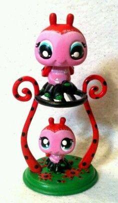 Linda & Lulu Ladybug Lot * OOAK Custom Littlest Pet Shop