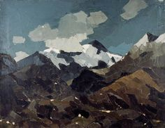 Kyffin Williams, & and Cloud, Snowdonia& Oil on canvas, 61 x Collection: Llyfrgell Genedlaethol Cymru / The National Library of Wales Snow Mountain, Mountain Art, Mountain Landscape, Landscape Art, Landscape Paintings, Landscapes, Landscape Architecture, Kyffin Williams, Local Painters
