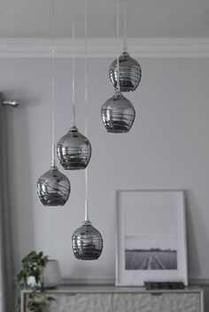 Next Drizzle Cluster Pendant - Grey Hallway Wall Lights, Ceiling Lights Uk, Kitchen Ceiling Lights, Stair Lighting, Pendant Lighting, Lighting Ideas, Bedroom Lighting, Lighting Design, Cluster Lights
