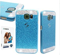 Galaxy S6 Case , iAnko® Luxury Bling Rhinestone Diamond Crystal Glitter Hard PC Case Cover Shell Phone Case for Samsung Galaxy S6 (Blue (Hard Case) iAnko http://www.amazon.com/dp/B010D7KFX6/ref=cm_sw_r_pi_dp_XEYOvb0GN1RFA