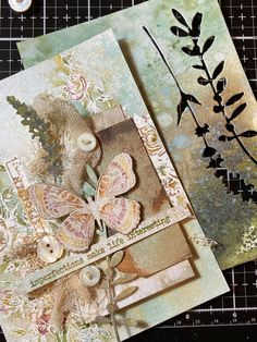 Butterfly Birthday Cards, Butterfly Cards, Die Cut Cards, Love Cards, Distressed Texture, Nest Design, Ink Stamps, Distress Ink, Paper Cards
