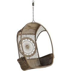 Pier 1 Imports Swingasan® - Dreamcatcher ($350) ❤ liked on Polyvore featuring home, outdoors, patio furniture, hammocks & swings, outdoor hanging chair and pier 1 imports